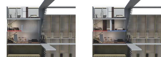 3 Casa-Flex Vivienda Vertical - Residential unit sections