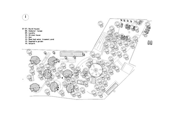 aerial view plan of Lychee Garden