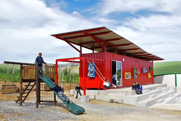 Vissershok Container Classroom – Tsai Design Studio