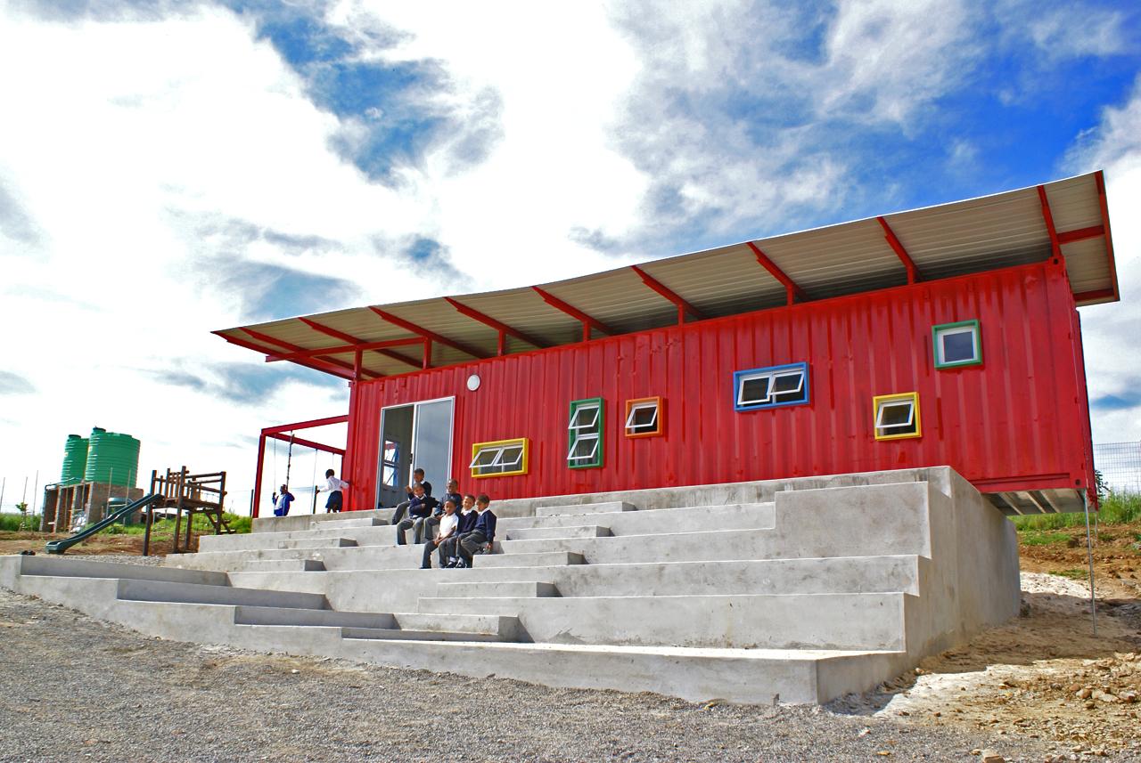 Vissershok container classroom tsai design studio - Vissershok primary school shipping container classroom ...